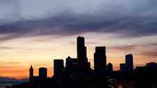 Free Seattle Sunset Royalty Free Stock Photography - 10055327