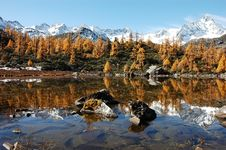 Jokul And It S Reflection In Tibet Royalty Free Stock Photo