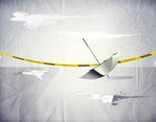 Free Umbrella And The Crime Scene Stock Photos - 10055753