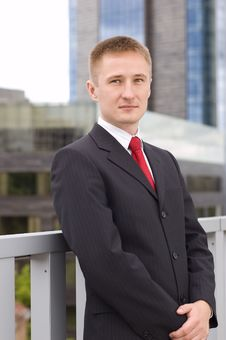 Portrait Of A Young Businessman Royalty Free Stock Photography
