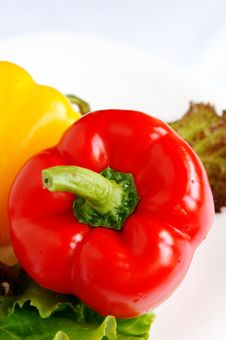 Red Sweet Bell Pepper Royalty Free Stock Photography