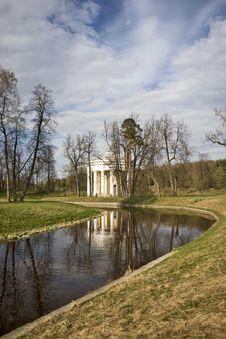 Classical Rotunda Near River Vertical Stock Images