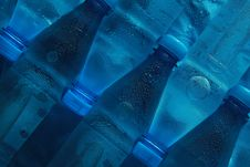 Free Bottles On Blue Stock Photography - 10056872