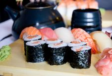 Sushi Set For Dinner Stock Photography