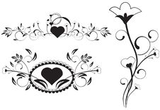 Free Vector Floral Hearts Royalty Free Stock Photos - 10057688