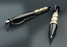 Pens Closeup Royalty Free Stock Photography