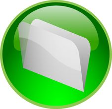 Free Green File Button Stock Images - 10058734