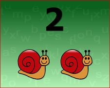 Number Snail Royalty Free Stock Photo