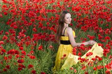 Free Beautiful Young Girl With Yellow Scarf Royalty Free Stock Images - 10058969