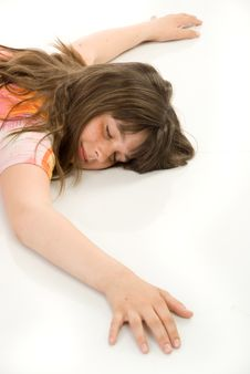 Free The Sleeping Girl Royalty Free Stock Image - 10059316