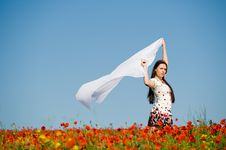 Free Beautiful Girl In The Poppy Field Royalty Free Stock Photo - 10059345