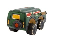 Wooden Toy SUV Stock Photos