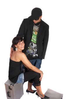 Hip And Loving Couple Stock Photo