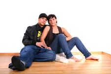 Couple In New Flat Stock Photos