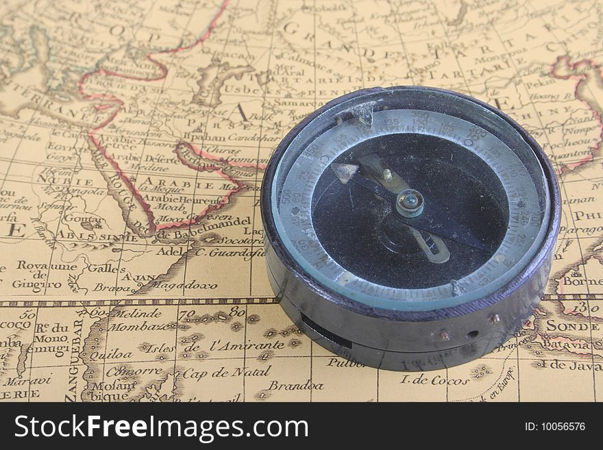 Compass and map 02
