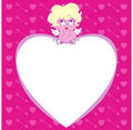 Free Cupid On A Heart Stock Photo - 10063000