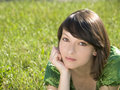 Free Young And Beautiful Girl Under The Sun Stock Image - 10064181