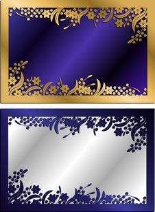 Free Floral Frames Vector Royalty Free Stock Photo - 10060005