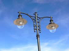 Free Retro Lamppost Stock Photography - 10060322