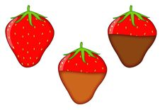 Strawberries Dipped In Chocolate Royalty Free Stock Photography