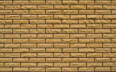 Free Even Yellow, Rough Brick Wall Stock Photo - 10061670