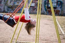 Girl On Swing Royalty Free Stock Photos