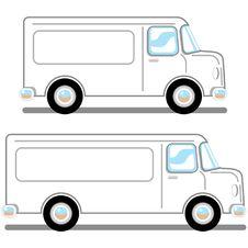 Cartoon Vans Stock Photos