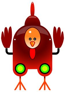 Chicken Bot Royalty Free Stock Photo