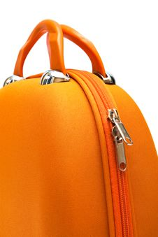 Free Orange Large Suitcase Royalty Free Stock Image - 10063326
