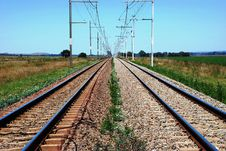 Free Rail Tracks Royalty Free Stock Photo - 10063515