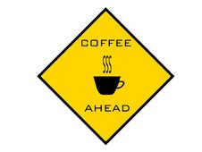 Free Coffee Ahead Warning Sign Royalty Free Stock Photography - 10064127