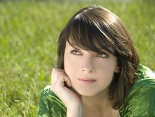 Young And Beautiful Girl Under The Sun Royalty Free Stock Photos
