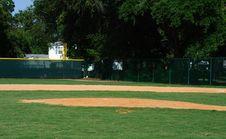 Free Empty Baseball Field Royalty Free Stock Photo - 10064875