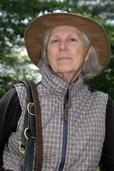 Senior Equestrian Woman Stock Image