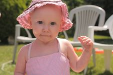 Free Baby In Pink Hat Royalty Free Stock Photos - 10065238
