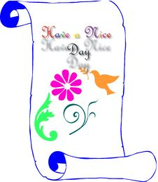 Floral With Have A Nice Day Banner Royalty Free Stock Image