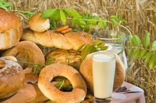 Free Bread And Milk. Stock Photo - 10065770