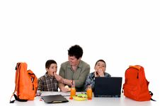 Free Boys Doing Homework Stock Image - 10066021