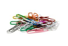 Free Multi-coloured Paper Clips Stock Photos - 10066183