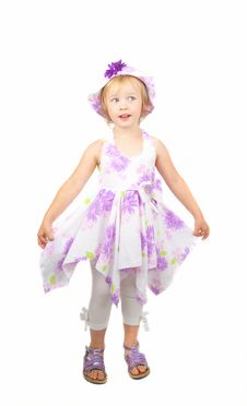 Free Little Dancing  Girl Royalty Free Stock Photography - 10066377
