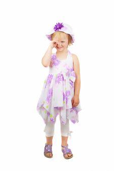 Free Little Sad Girl Stock Photo - 10066400