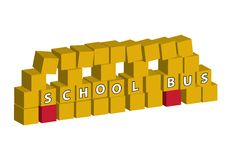 Free School Bus Made Of Blocks Royalty Free Stock Photos - 10067328