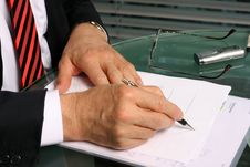 Free Businessman Taking Notes Royalty Free Stock Image - 10069066