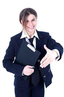 Free Friendly Businesswoman Stock Photos - 10069883
