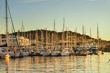 Free Sailing Boats In French Marina Royalty Free Stock Photography - 100623537