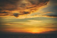Free Sky, Afterglow, Horizon, Red Sky At Morning Royalty Free Stock Photo - 100638105