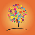 Free Colorful Tree With Flowers Royalty Free Stock Photo - 10074355