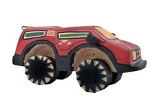 Wooden Toy SUV Royalty Free Stock Photography