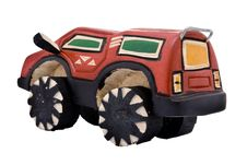 Wooden Toy SUV Stock Image