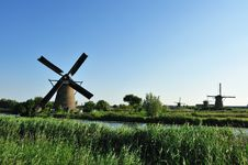 Free Windmill Landscape Royalty Free Stock Image - 10070316